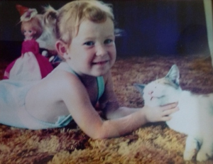 Young Nicole with Cat